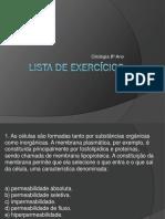 Lista de Exercícios Citologia 8 Ano PDF