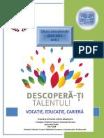 Brosura Prezentare Domenii Oferta Educationala Liceu CTIA-2018 2019