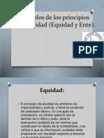 Ejemplos de Los Principios Contabilidad (Equidad y