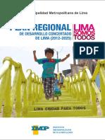 Diagnostico y Propuesta Del Plan Regional de Desarrollo Concertado de Lima 2012 2025