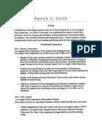 Patrick D Smith Resume