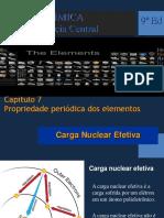 Cap. 07 - Propriedade Periódica Dos Elementos