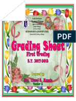 Grading Sheet Cover