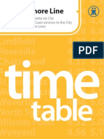 North Shore Line Timetable