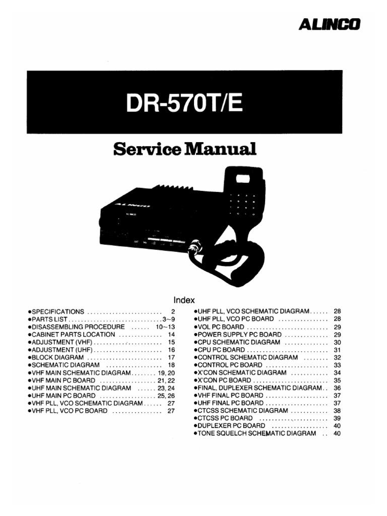 Alinco DR-570 Service Manual
