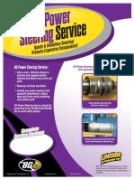 power steering sales sheet