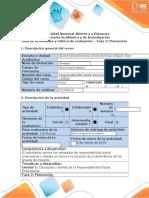 Guía de actividades y rúbrica de evaluación- Fase 2 Planeación