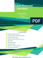Callable Bond and Valuation