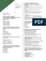 Teste 1b - Classes Gramaticais - Março
