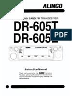 Alinco DR-605 Instruction Manual