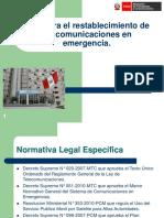 MTC Plan Para El Restablecimiento de Las Comunicaciones de Emergencia