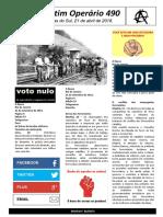 Boletim Operário 490