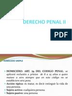 Derecho Penal II Delitos Contra Las Personas Clases 1 y 2 [Reparado]