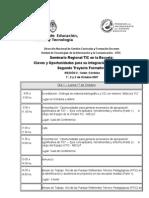 Agenda de Capacitacion TIC - Cordoba - Trayecto 2
