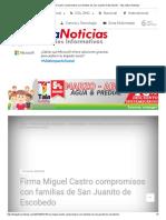 22-04-18 Firma Miguel Castro compromisos con familias de San Juanito de Escobedo