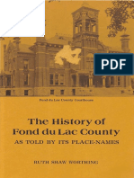 The History of Fond Du Lac County as Told by Its Place Names