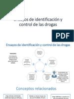 Ensayos de Identificación y Control de Las Drogas.