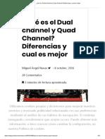 ¿Qué Es El Dual Channel y Quad Channel_ Diferencias y Cual Es Mejor
