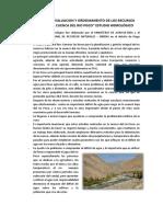 Estudio Hidrologico Río Pisco