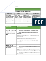 system of formative assessment - self assessment