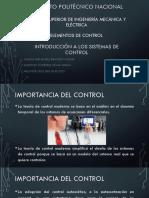 Introducción Sistemas Control