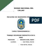 Seguridad Energetica en El Peru