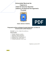 Plan Intermedio de Manejo Del SNTN