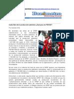 Por Damián Alifa Caída libre de la producción petrolera