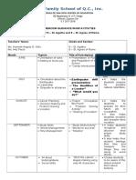 RHGP Template of Activities