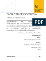 Comparación Ductilidad Limitada y Albañileria