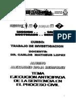 Ejecucion Anticipada de La Sentencia en El Proceso Civil