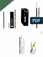 Alinco DR-1200 Instruction Manual