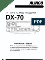 Alinco DX-70 Instruction Manual