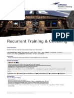 Recurrent Training & Checking Course