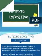 EL TEXTO EXPOSITIVO