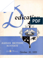 Dedication Alexian Brothers Novitiate - Gresham, Wisconsin - October 30, 1955