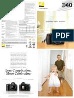 Nikon D40 Full Product Brochure