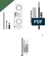 Alinco EDX-1 Instruction Manual
