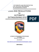Fire Sprinkler System Regs as Per CA