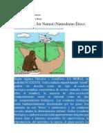 ETICA DEL NATURALISMO BIOLÓGICO 1° UNIDAD