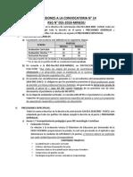 PRECISIONES CONVOCATORIA CAS