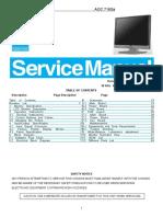 AOC TFT-LCD Color Monitor 716Sa Service Manual