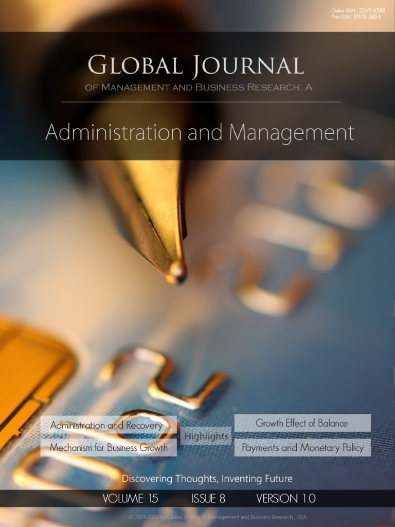 E-Journal GJMBR (a) Vol 15 Issue 8 | Human Resource