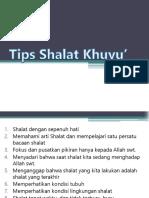 Tips Shalat Khuyu'