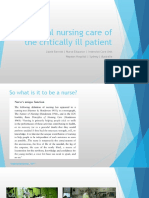 7 Essential Nursing Care of the Critically Ill Patient