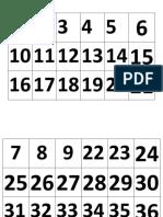 Loteria Numeros 1-100