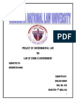 Project of Environmental Law