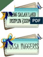 Label Mp Kelas