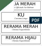 Label MEja