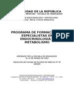Endocrinología y Metabolismo Plan Estudio
